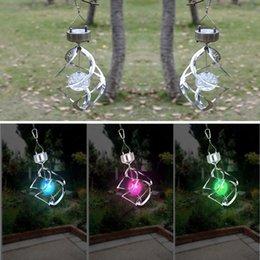 Wholesale Hot Color Changing Solar Powered LED Wind Chimes Wind Spinner Outdoor Hanging Spiral Garden Light Courtyard Decoration