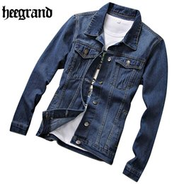Wholesale Classic Casual Jacket Men - Wholesale- HEE GRAND Europe Style Male Denim Jacket Classic Fashion Slim Jean Jacket Spring Male Casual Jacket MWJ2236
