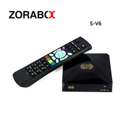 Wholesale Digital Satellite Receiver Mini - S-V6 Mini Digital Satellite Receiver S V6 with AV HDMI output 2xUSB WEB TV USB Wifi Biss Key Youporn CCCAMD same as openbox v6s