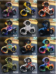 Wholesale Clover Flag - Newest American flag colored drawing windmill clover fidget Spinner Spinner Fidget Toy DHL free