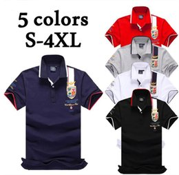 Wholesale Dryer Air - 5 color contrast men's polo brand new male aeronautica militare men polo shirt air force contrast polo shirts Casual S-4XL