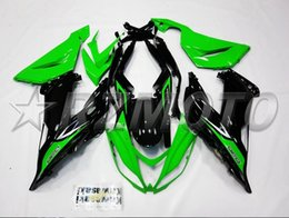 Wholesale Kawasaki 636 Fairings Set - New Aftermarket Motor ABS Injection Fairing Kit Fit For kawasaki Ninja ZX6R 599 636 13-16 ZX-6R 2013 2014 2015 bodywork set black and green