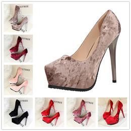 Wholesale Platform Wedge Bridal Shoes - 2017 women high heels prom wedding shoes lady crystal platforms silver Glitter rhinestone bridal shoes thin heel party pump