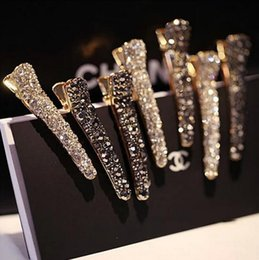 Wholesale African Christmas Ornaments - Hot sale Ladies hair ornaments headdress pearl diamonds duck mouth clip bride jewelry fashion hair card FJ178 mix order 60 pieces a lot