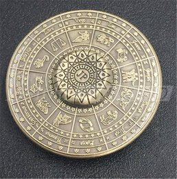 Wholesale Wholesale Sports Signs - New Fidget Toy Egyptian Zodiac Sign Mummy 12 Constellation UFO Hand Spinner Finger Stress Spinner DHL free shippinhg