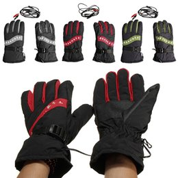 street gears Promo Codes - Wholesale- 1PC Motorcycle Outdoor Hunting Electric Warm Winter Warmer Heated Gloves Motorcycle Street Gear Gloves