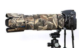 ROLANPRO Cubierta impermeable impermeable de camuflaje con lente de nylon para Nikon AF-S 80-400mm f / 4.5-5.6 G ED Lente VR Funda protectora para lluvia desde fabricantes