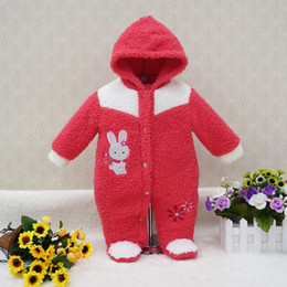 Wholesale cm lighting - Little Q Coral velvet long sleeve winter baby clothes one piece kid bodysuit newborn boys girl clothing infant apparel