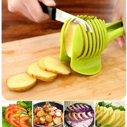 Wholesale 1pcs Potato Tomato Cutter Utensilios De Cozinha Assistant Lounged Fruit Lemon Shredders Slicer Cocina Kitchen Accessories JJ682