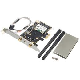 Wholesale wireless pci desktop - Wholesale- Brand New 300Mbps Wireless Wifi PCI-E Card Desktop Adapter With Antenna Wireless Wifi Bluetooth 4.0 For MAC Desktop Laptop
