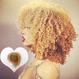 Wholesale Human Hair Wigs Malaysia - glueless none lace wig curly honey blond short bob human hair wigs malaysia hair lace wig