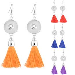 Gli orecchini scintillanti di noosa online-6 stili Noosa nappa 18mm con bottone a pressione orecchini pulsante di moda orecchini di goccia per le donne scatta gioielli fba drop shiping n509q