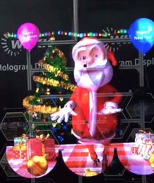 wifi llevó señal Rebajas Reproductor de vídeo de la máquina publicitaria holográfica con pantalla estéreo holográfica Reproductor de vídeo de la máquina publicitaria holográfica estética holográfica