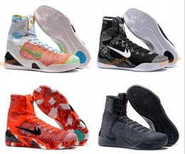 Wholesale Cheap Boots For Women - Cheap Shoes Kobe KB 9 IX Elite Black Mamba Blackout BHM Christmas High For Men Basketball Sports Shoes