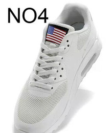 Wholesale Usa Women - 2017 new hot Unisex Men Women USA 90 maxies P American FLAG Casual Shoes Independence Day With Aircushion HYPs QS Trainers Zapatos 36-46