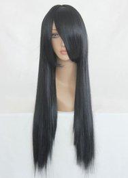 MCOSER очень хороший известный отбеливатель Кучики Бьякуя хорошее качество черный длинные прямые косплей парик Бесплатная доставка от