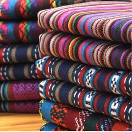 Argentina 1 metro de tela vintage para coser patchwork étnico hilados de jacquard teñidos telas diy tela tecido telas cuartos de grasa Suministro