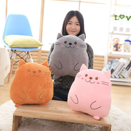 Wholesale Toy Cats For Sale - Hot Sale 3 Color 38x28cm Pusheen cat Pillow Plush Doll Stuffed Animals Toys For Child Gifts