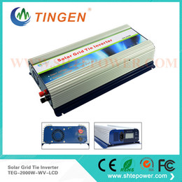 Wholesale Inverter For Home - 2kw solar grid tie inverter 2000w for home use dc input 45-90v to ac output 90-130v 190-260v with lcd display