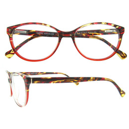 Wholesale Top Selling Fashion Italy Design Men Women Acetate Colorful Strips Spring Hinge Oval full rim optical glasses Frames