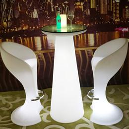 Stehtisch online-Höhe 120cm wasserdicht Wireless Essen Standlicht LED, 47 Zoll bis bunten LED High Light Cocktailbar Tisch wiederaufladbare Indoor / Outdoor