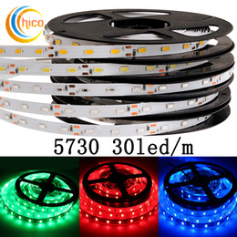 Wholesale Project Blue - Project lights SMD 5730 led strip lights led tube lights 30 Leds m 12v waterproof IP67 red green blue yellow white Warm white