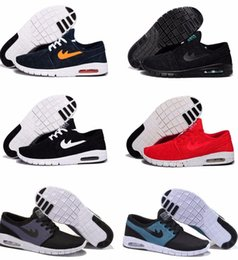 Wholesale Light Blue Tags - New Arrival Mens Running Shoes With Tag New fashion SB Stefan Janoski Max Mens and womens Fashion Sneakers shoes EU36-45 Free Shipping