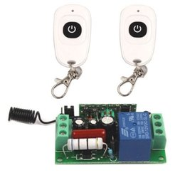 Wholesale 1ch Rf Remote - Wholesale- AC 220V 10A Relay 1CH 315MHz Remote wireless RF Switch 2 Transmitter+ Receiver