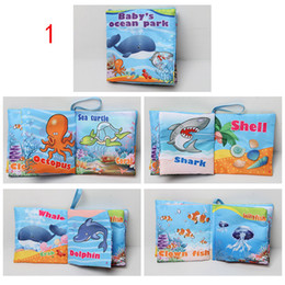 Wholesale Alphabet For Learning - 6 styles Hot Sales Kids Baby Cloth Books Baby cloth book for Early learning education cloth toys baby fabric book in english fit 0-3Y