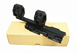 Wholesale Tactical Cantilever - Tactical Quick Detach Cantilever Scope Ring Mount 25mm-30mm Dual Ring 20mm Rail Auto Lock Heavy Duty Rifle QD Scope Mount