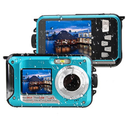 Wholesale Screen 32 - High Quality Waterproof 24MP HD Digital Camera Double Screens 1080P Self Shot 16x Zoom DV Recorder Sport Camera HD CMOS Underwater Camcorder