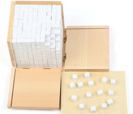 Wholesale Early Boxing - Wholesale- Baby Toy Montessori Volume Box with 1000 Cubes for Early Childhood Education Preschool Training Kids Toys Brinquedos Juguetes