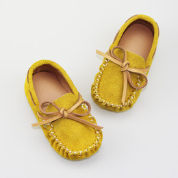 Wholesale Kids Casual Sandals - Fashion HOT Boys Girls Doug Shoes Bowknot Leather Shoes Casual Spring Summer Baby Girl Boys Soft Antiskid Kids Sandals Tods Shoe A6572