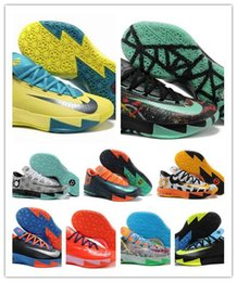 Wholesale Leather Shoes For Sale - Free shipping 2016 hot sale high quality Basketball shoes Kevin Durant KD 6 running shoes for men sneaker,size us 7-12