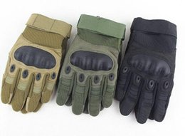 Wholesale Carbon Race - US Army Tactical Gloves Outdoor Sports Full finger Combat Gloves Motocycle Racing Slip-resistant Carbon Fiber Tortoise Shell