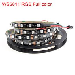 Tira de led ws2811 negro online-Al por mayor-5m smd5050 RGB ws2811 llevó la luz de tira 30/60 led / m IP20 / IP67 Negro / blanco PCB dc12v 2811 IC Luz de tira mágica Dream Magic color