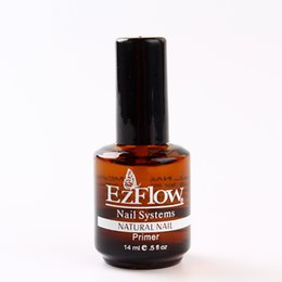 Wholesale Ezflow Base Coat - Wholesale-double 11 sales 2016 BASE COAT New 14ML Nail Art Soak Off Color for UV Gel Polish acrylics 0.5fl oz primer gel EZFlow Bonder