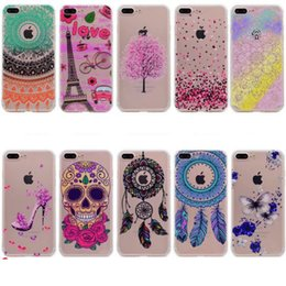 Wholesale Butterfly Iphone Covers - Dreamcatcher Mandala Soft TPU Case For Iphone 7 Plus 6 6S 5S Huawei P8 Lite 2017 P9 P10 Mate9 Honor 5C High Heel Clear Skull Butterfly Cover