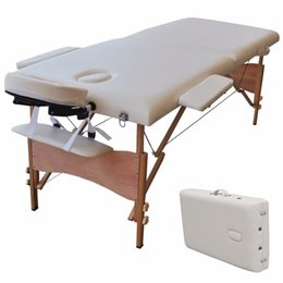 Wholesale Portable Massage Bed Table SPA Tattoo Folding Bed Carry Case in Length Inch Wide Inch Ship From USA