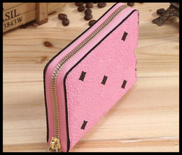 Wholesale Free Sky Card - 2017 new European solid long wallet hand bag ladies fashion brand embossed leather buckle Free shipping
