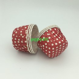 Wholesale Polka Dot Cup Party - 30Pcs Round Greaseproof Polka Dot Baking Cup Cupcake Case High Temperature Baking Cup Home Party Diverse Colorful Party Cake Case