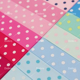 Wholesale Grosgrain 22mm - 7 8 Inch 22mm 42 Colors for Choices 3 Dot Printed Grosgrain Ribbon for DIY Accessories Baby Kids Hair Craft Gift Packaging Party Decoration