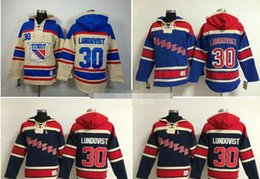 Wholesale Kids Black Hoodies - Mens,Youth Henrik Lundqvist #30 Hoodies New York Rangers kids Color blue High quality 100% stitched Ice Hockey Hoodies
