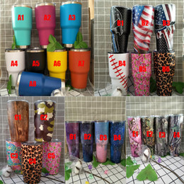 Wholesale Styles Sprays - Stainless Steel Tumbler vehicle travel cups new spray cup Insulated Double Wall Vacuum wter bottles 5 style 26 colors DHL free