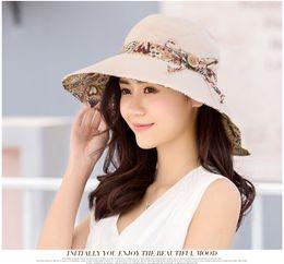Wholesale Embroider Floppy Hat - Women Wide Large Brim Floppy Summer Beach A Sun Hat Straw Hat Button Cap Summer Hats For Women