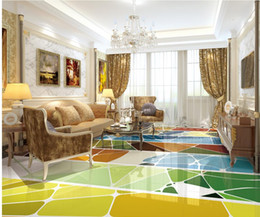 Wholesale Parquet Tiles Flooring - 3d simple fashion abstract parquet pattern floor ceiling vector tiles waterproof wallpaper for bathroom 3d