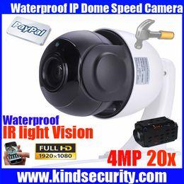Wholesale Indoor Ptz Dome Ip Camera - Megapixel 4 inch Mini Size Network Onvif 4MP cctv camera ip ptz dome speed dome 20X optical zoom ptz ip camera