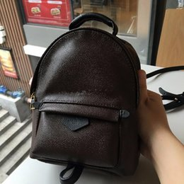 Wholesale Palms Small - New Hight quality Women's Palm Springs Backpack Mini genuine leather children backpacks women printing leather backpack M41560