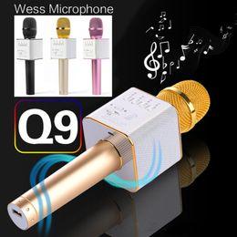 Магия Q9 Bluetooth беспроводной микрофон ручной Microfono КТВ с динамиком микрофон динамик караоке Q7 обновление для android телефон 0802219 от