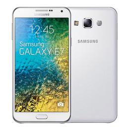Wholesale E7 Dual Sim - Refurbished Original Samsung Galaxy E7 E7000 Dual SIM 5.5 inch MSM8916 Quad Core 2GB RAM 16GB ROM 4G LTE Unlocked Mobile Cellphone DHL 1pcs